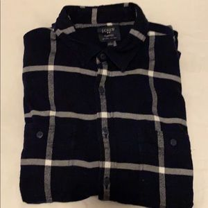 Men's J. Crew Navy Flannel